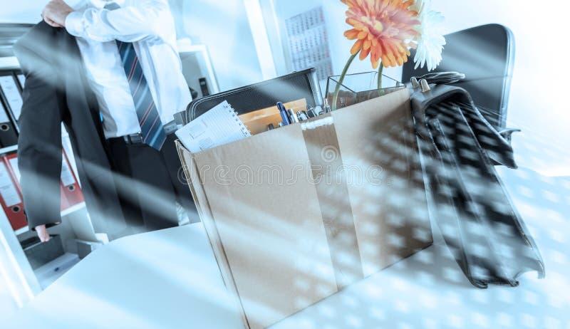 Концепция потери работы; множественная выдержка стоковая фотография