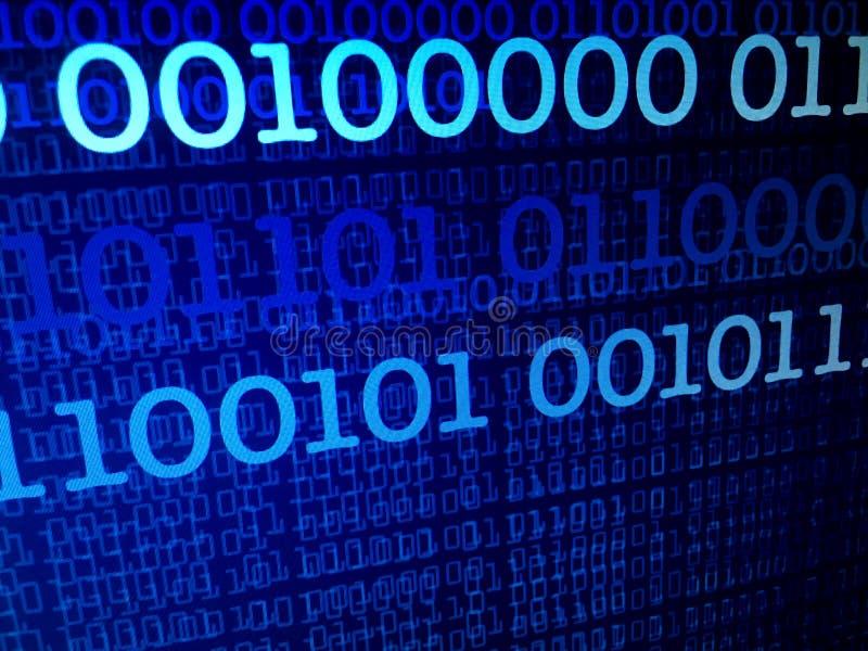 Концепция потока двоичных данных, номера, большие данные, информация стоковая фотография