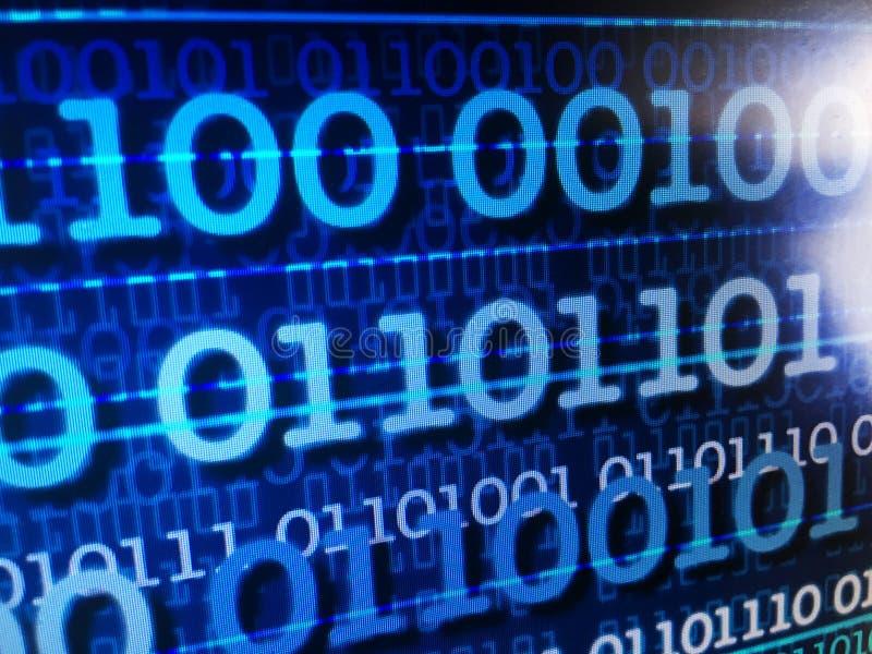 Концепция потока двоичных данных, номера, информация - abs стоковое изображение rf