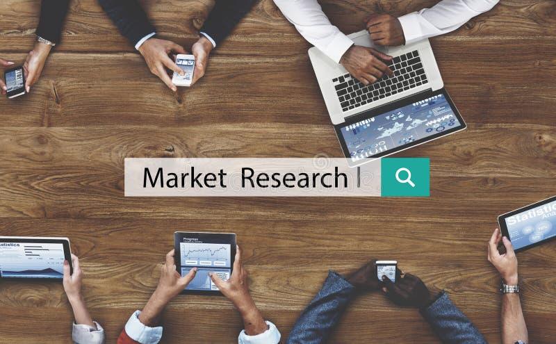 Концепция потребителя дела анализа изучения рыночной конъюнктуры стоковая фотография rf