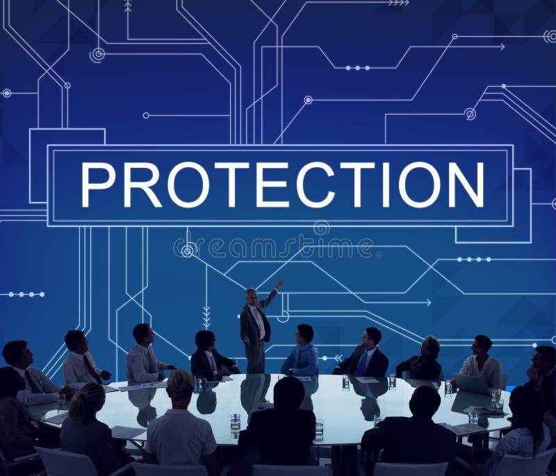 Концепция политики уединения безопасности наблюдения защиты стоковое изображение rf