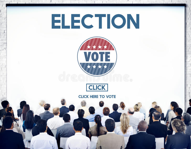 Концепция правительства голосования избрания отборная голосуя стоковое изображение