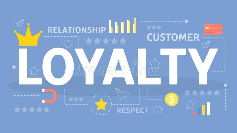 Концепция преданности Идея отношения с клиентами бесплатная иллюстрация
