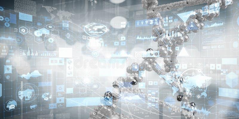 Концепция предпосылки биотехнологии бесплатная иллюстрация