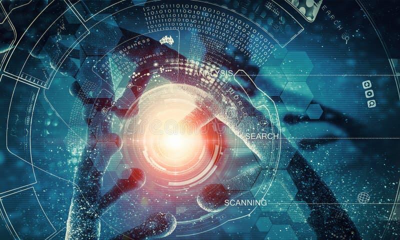 Концепция предпосылки биотехнологии стоковая фотография rf