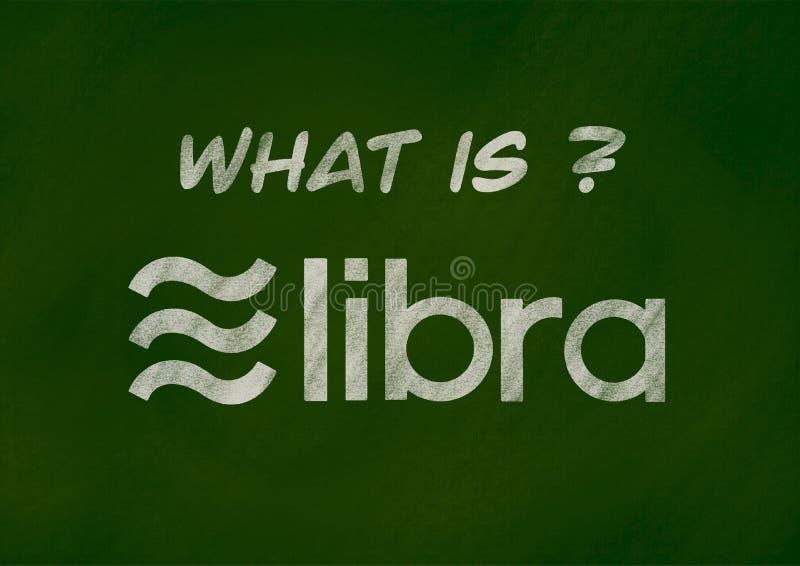 Концепция предпосылки денег Libra цифровая бесплатная иллюстрация