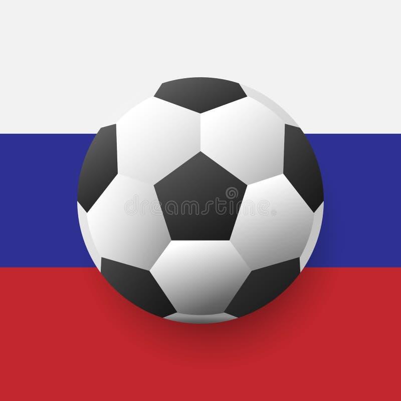 Концепция предпосылки кубка мира футбола вектора Русские национальные символы для знамен, плакатов Предпосылка кубка мира футбола иллюстрация вектора