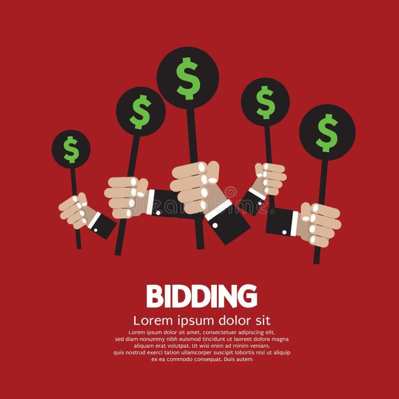 Концепция предлагать цену или аукциона бесплатная иллюстрация