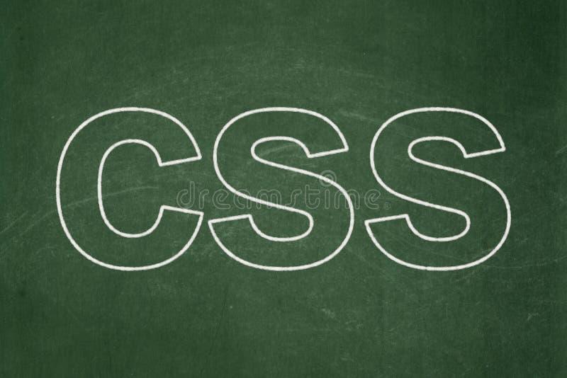 Концепция программного обеспечения: Css на предпосылке доски иллюстрация штока