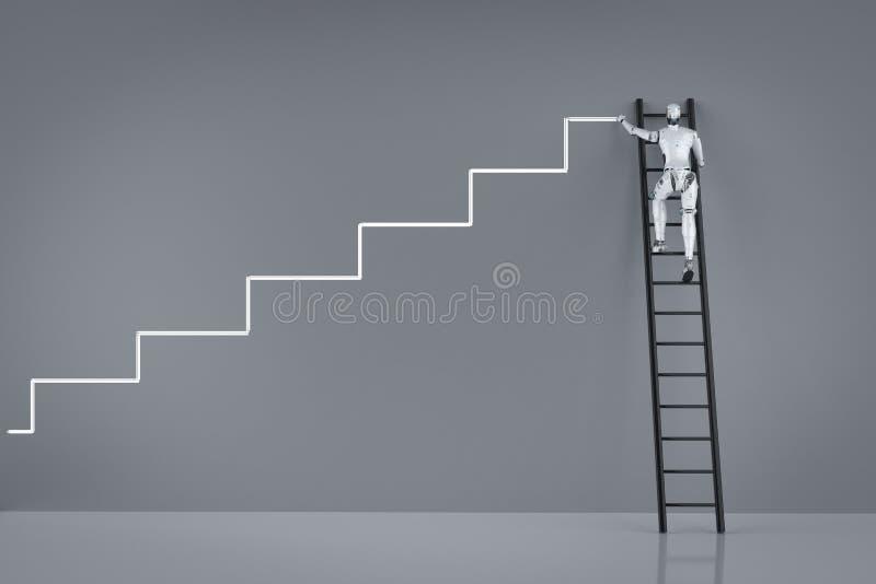 Концепция прогресса технологии иллюстрация вектора