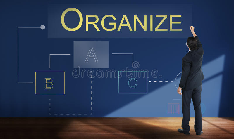 Концепция проекта процесса потока операций аналитика дела стоковое изображение