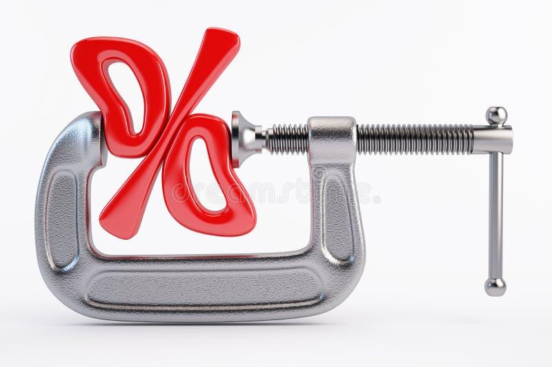 Концепция процентной скидки бесплатная иллюстрация