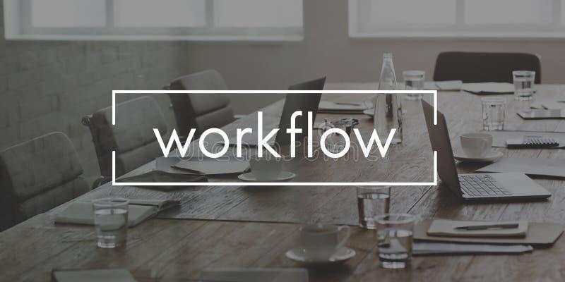 Концепция процесса планирования эффективности потока операций эффективная стоковое изображение