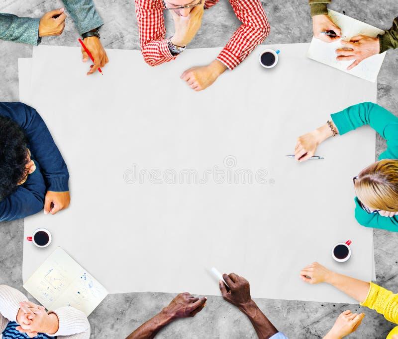 Концепция планирования встречи обсуждения сыгранности команды стоковое изображение