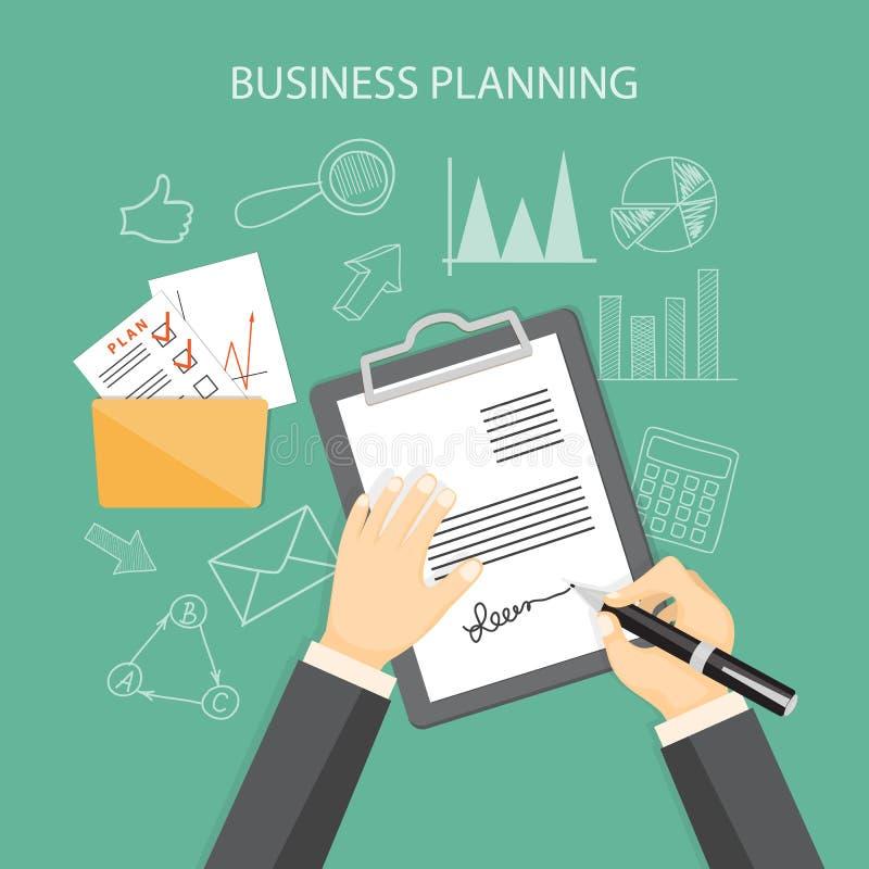 Концепция планированиe бизнеса иллюстрация вектора