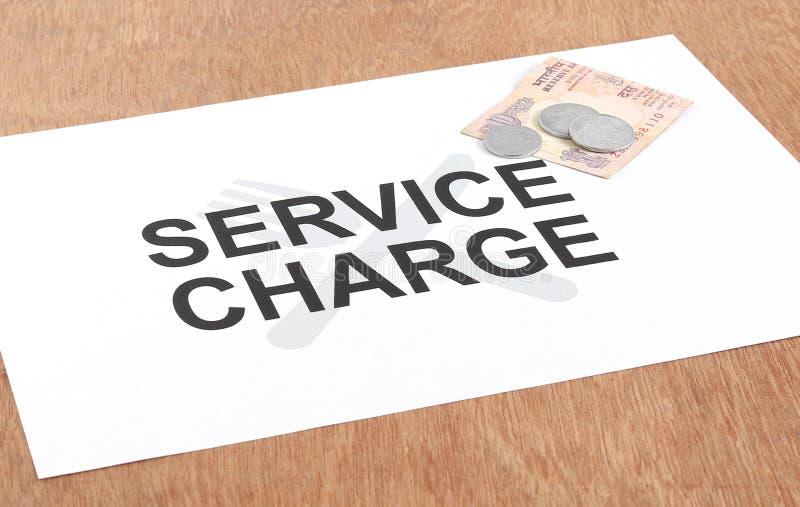 Концепция платы за услуги стоковая фотография rf
