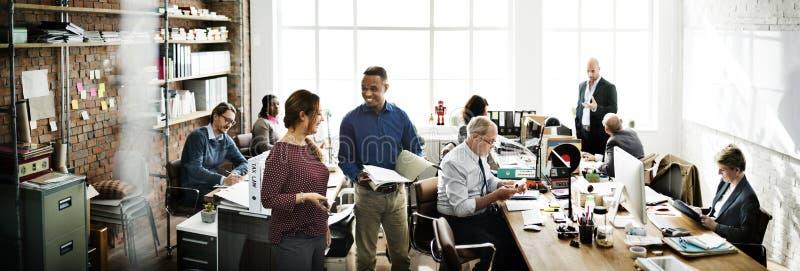 Концепция работника офиса команды дела работая стоковое фото rf