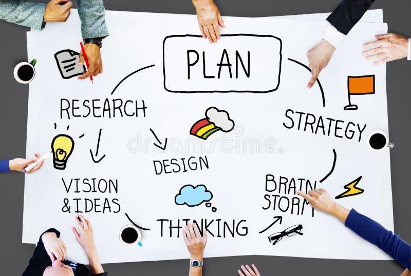 Концепция развития полета процесса планирования плана стоковые изображения rf