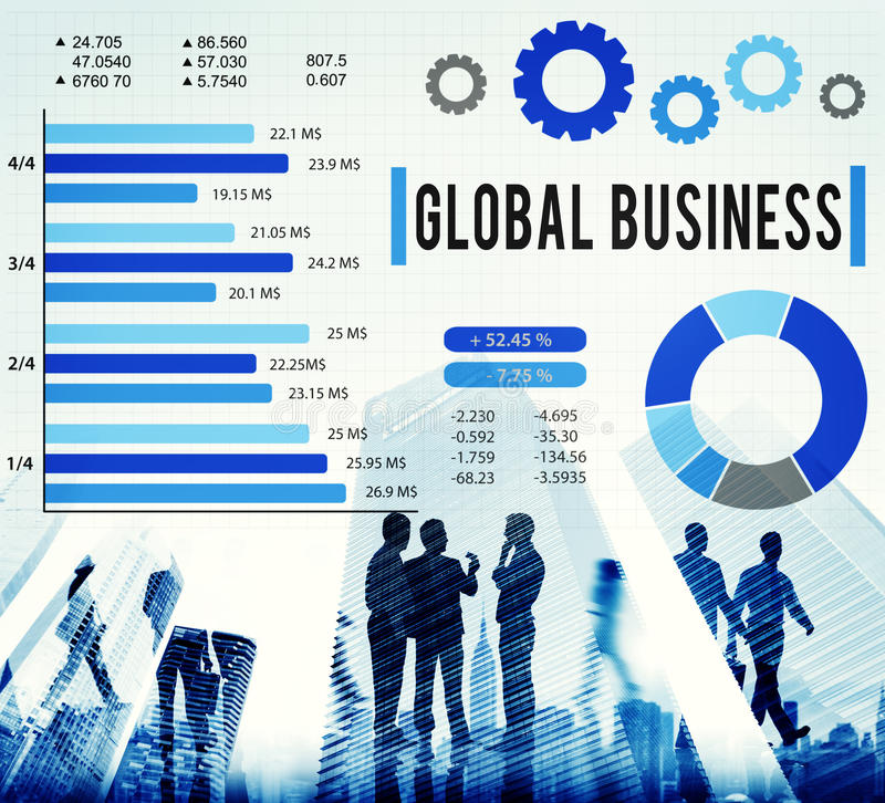Концепция развития роста глобального бизнеса корпоративная стоковая фотография rf