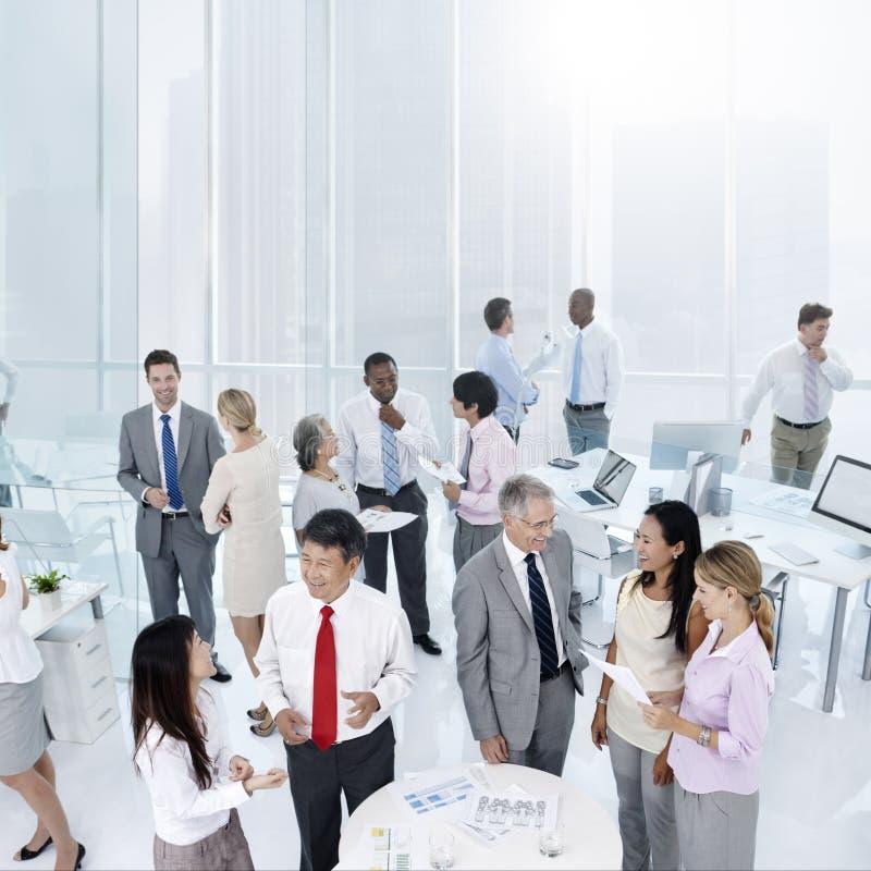 Концепция района офиса обсуждения связи объяснения стоковое фото
