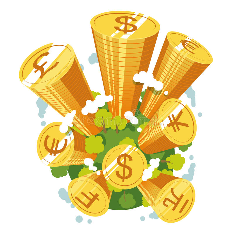 Концепция резервных валют мира бесплатная иллюстрация