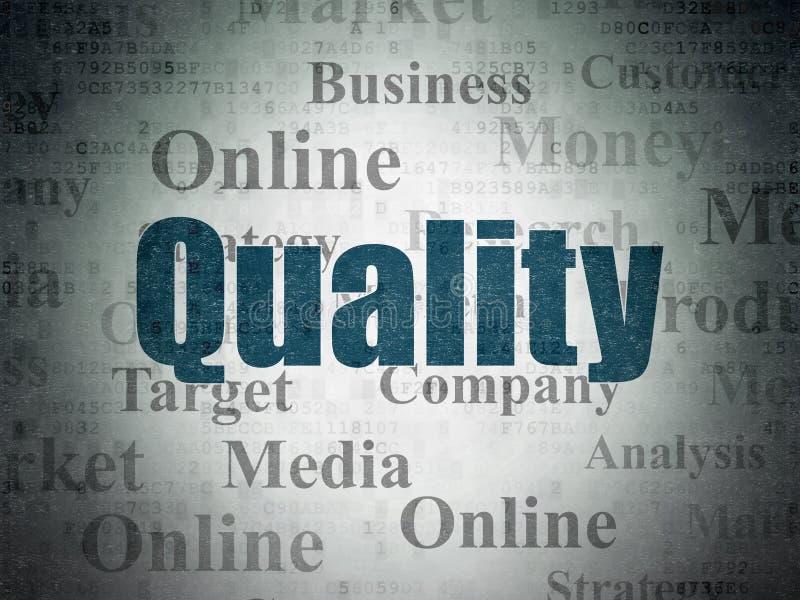 Концепция рекламы: Качество на предпосылке бумаги цифровых данных бесплатная иллюстрация