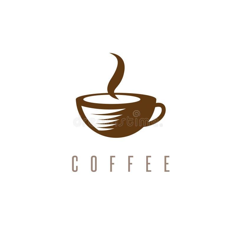 Концепция ресторана или кафа с чашкой бесплатная иллюстрация