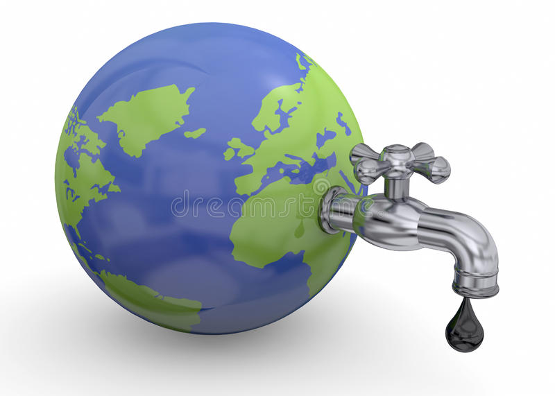 Концепция ресурсов мира - 3D иллюстрация вектора