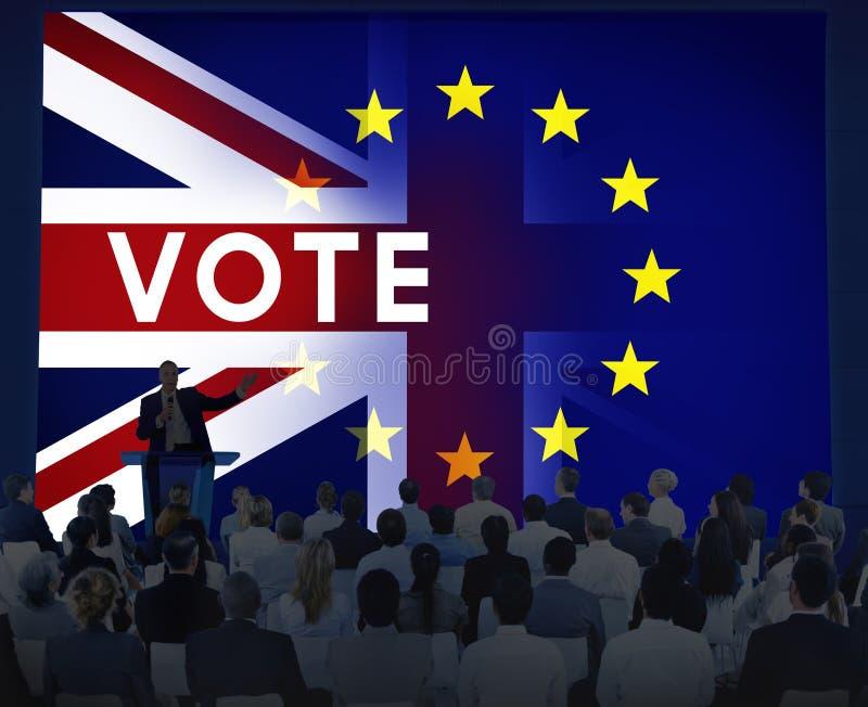 Концепция референдума Британии EC Brexit стоковые изображения
