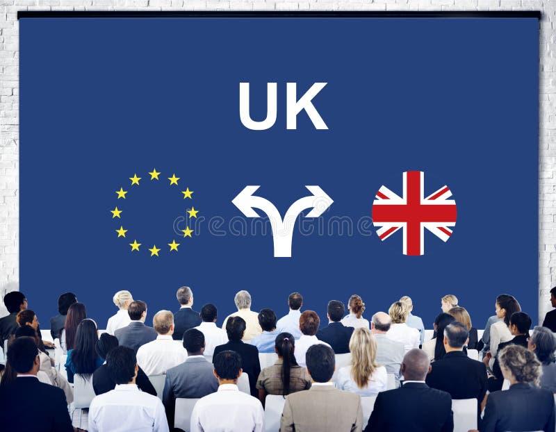 Концепция референдума Brexit Bremain Великобритании EC стоковая фотография