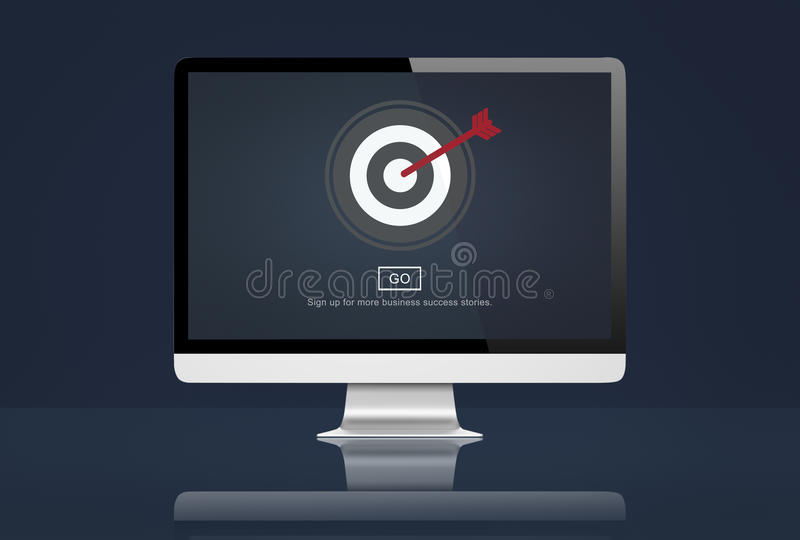 Концепция решения полета целевого маркетинга иллюстрация вектора