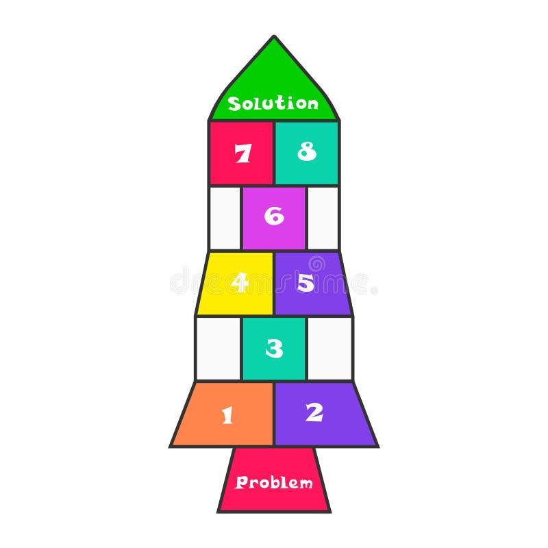 Концепция решения проблемы как игра классиков ребенка бесплатная иллюстрация