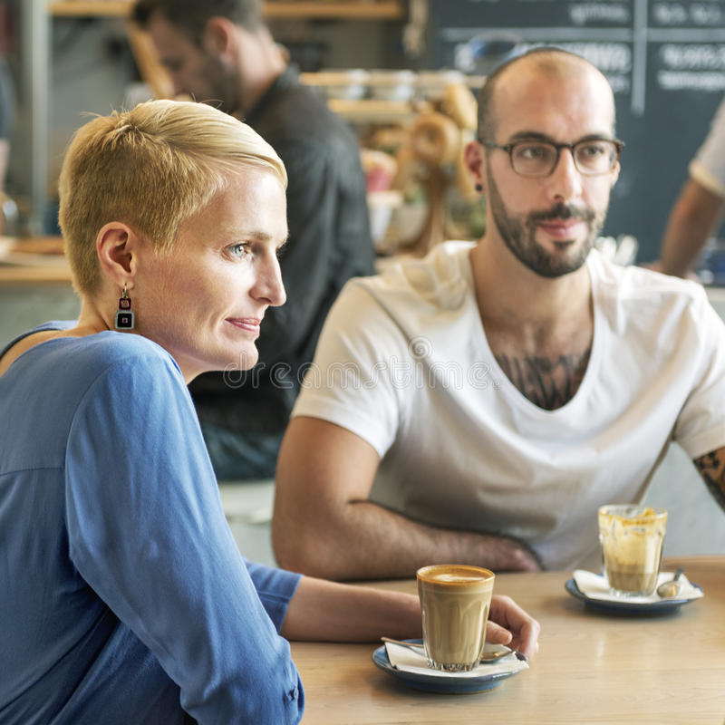 Концепция релаксации образа жизни отдыха кофейни стоковые изображения rf