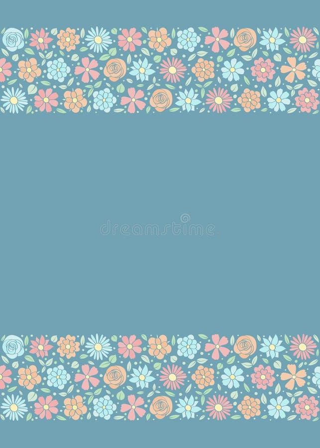 Концепция рогульки с цветками весны Предпосылка с copyspace стоковое фото rf
