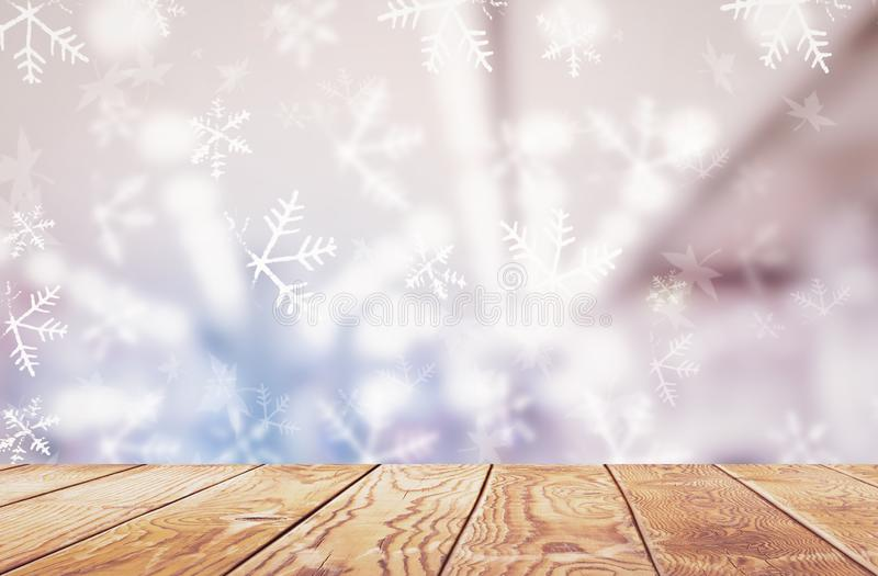 Концепция Рожденственской ночи: Запачканное bokeh светов рождества стоковое изображение