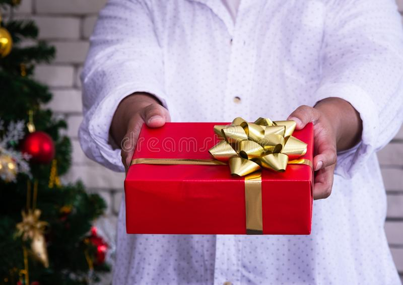 Концепция рождества и счастья стоковая фотография rf