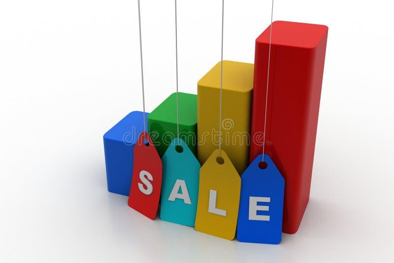 Концепция роста продаж иллюстрация вектора