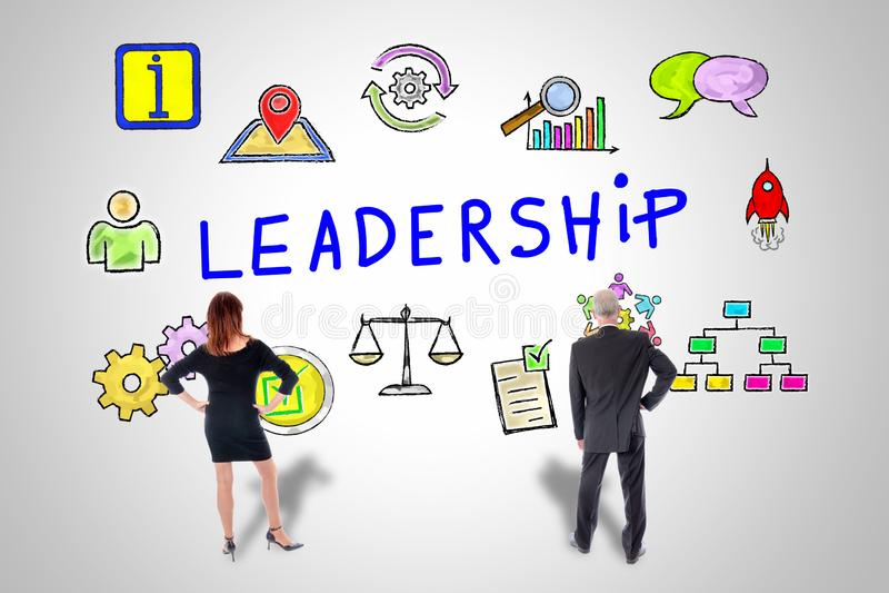 Концепция руководства наблюдаемая бизнесменами иллюстрация штока