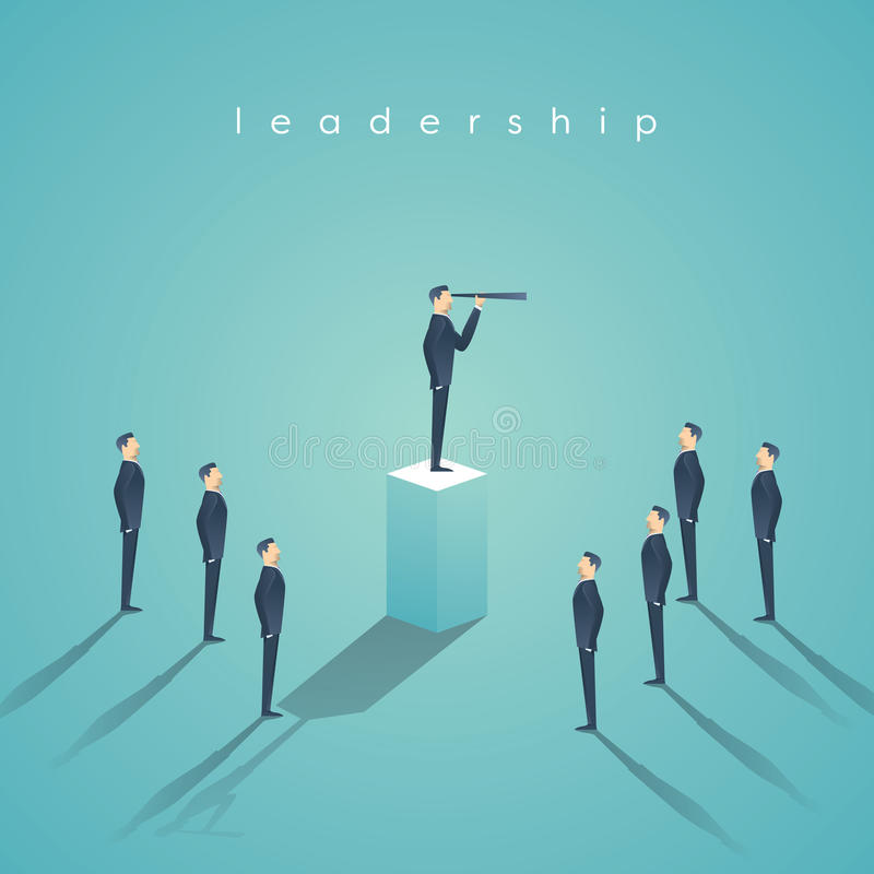 Концепция руководства дела при бизнесмен стоя на штендере Менеджер, обои вектора административного поста бесплатная иллюстрация