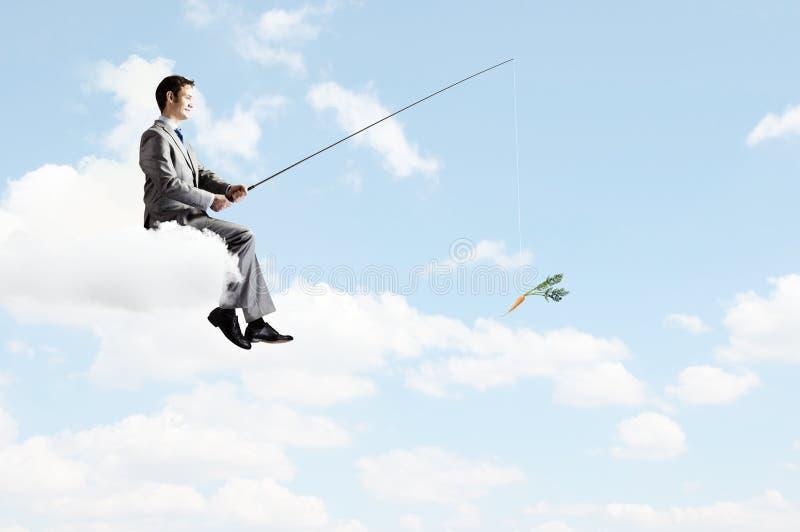 Download Концепция рыбной ловли стоковое фото. изображение насчитывающей бизнесмен - 41651392