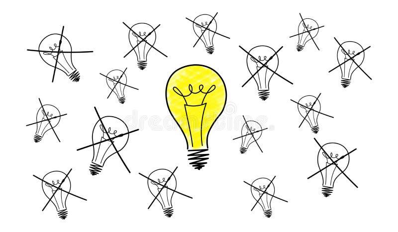 Концепция самой лучшей идеи иллюстрация вектора