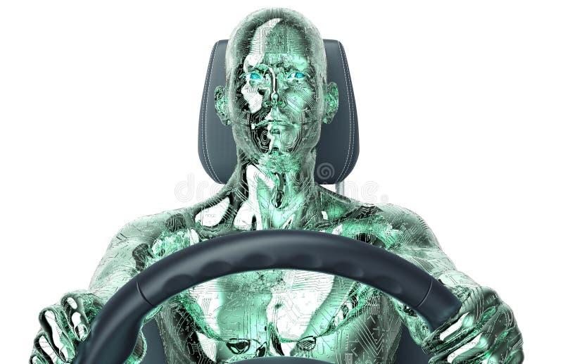 Концепция само-управляя автомобиля бесплатная иллюстрация