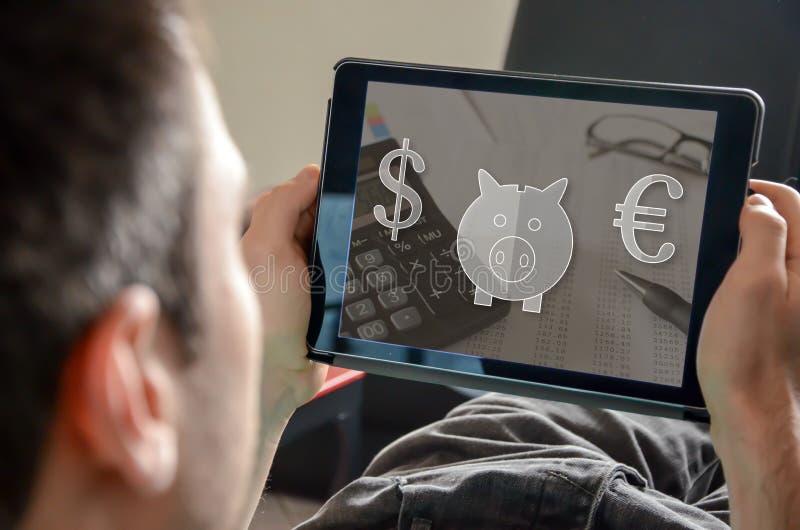 Концепция сбережений денег стоковая фотография