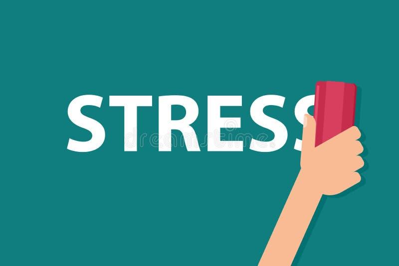 Концепция сброса стресса иллюстрация вектора