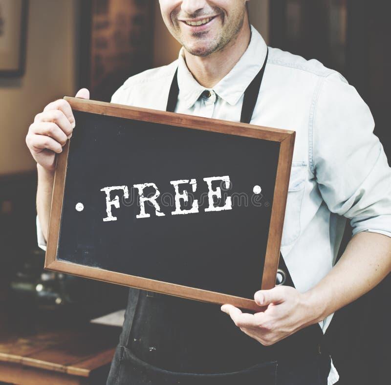 Концепция свободного образца предложения подарка бонуса пробная графическая стоковая фотография