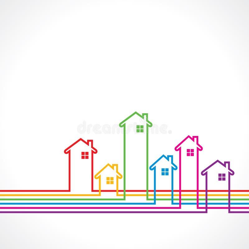 Концепция свойства предпосылки недвижимости для продажи иллюстрация вектора