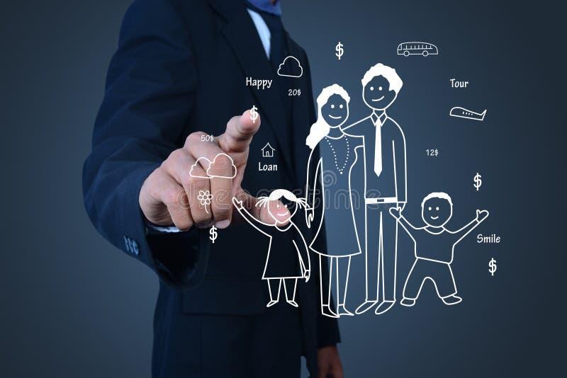 Концепция семьи заботя и планируя стоковая фотография rf