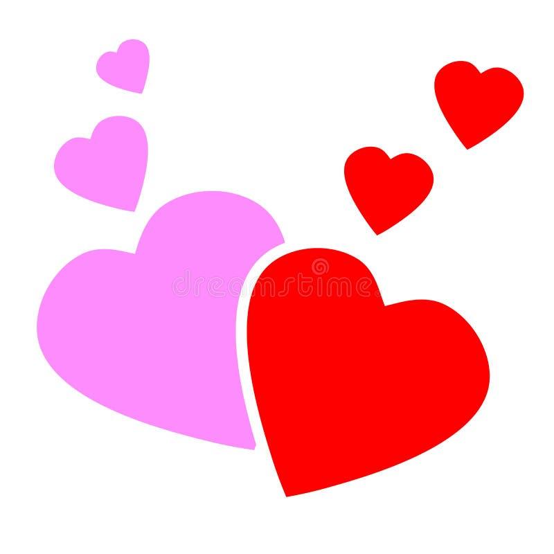 Концепция сердец любов вектора бесплатная иллюстрация