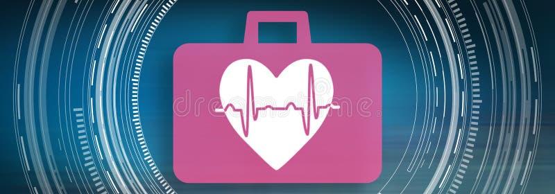 Концепция сердечной аварийной ситуации иллюстрация вектора