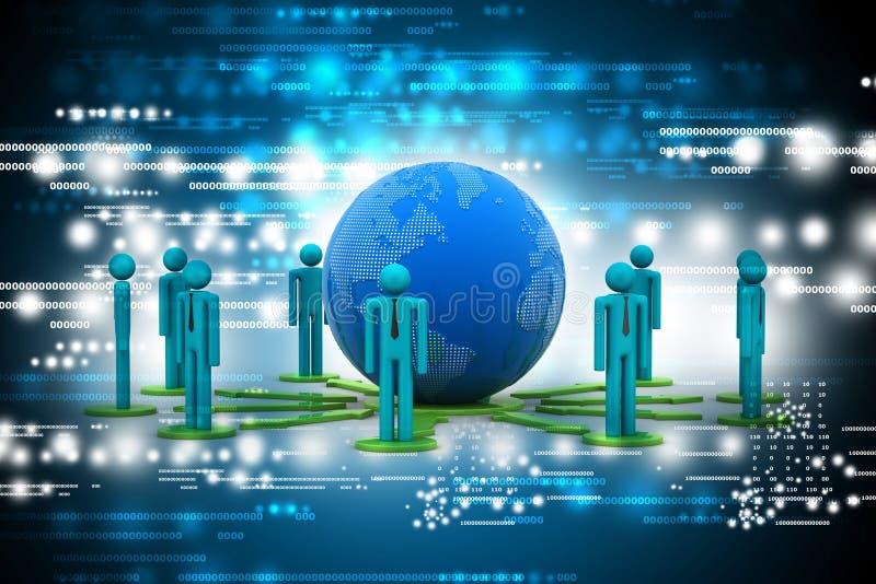 Концепция сети глобального бизнеса иллюстрация штока